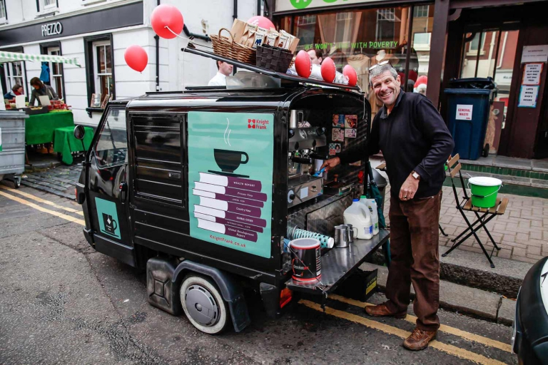 Mobile coffee van & cart hire London & nationwide