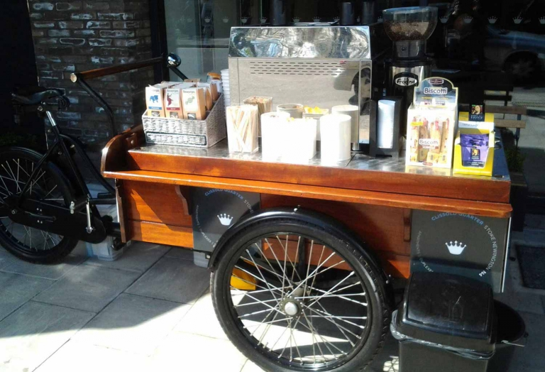 Mobile coffee trike hire London & nationwide