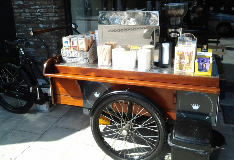 mobile coffee trike hire london and nationwide