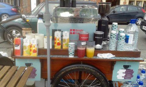 mobile coffee trike bike for hire