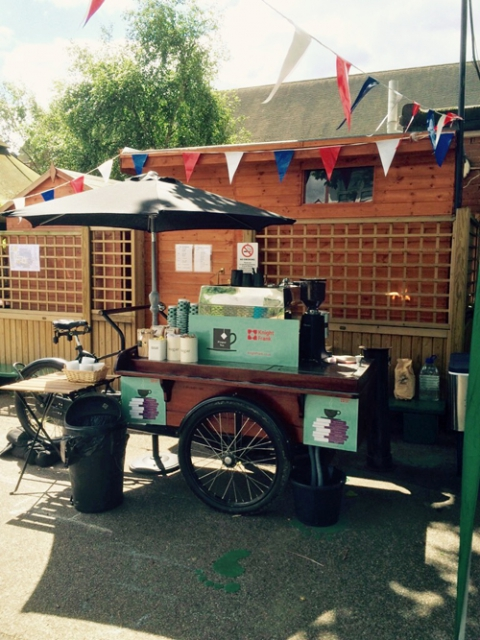 mobile coffee trike for hire