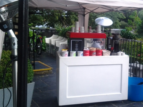 mobile coffee bar for hire