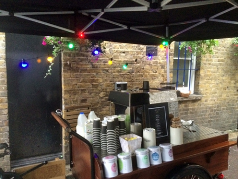 mobile coffee trike hire