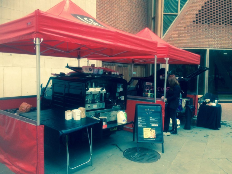 mobile coffee van hire London & Nationwide
