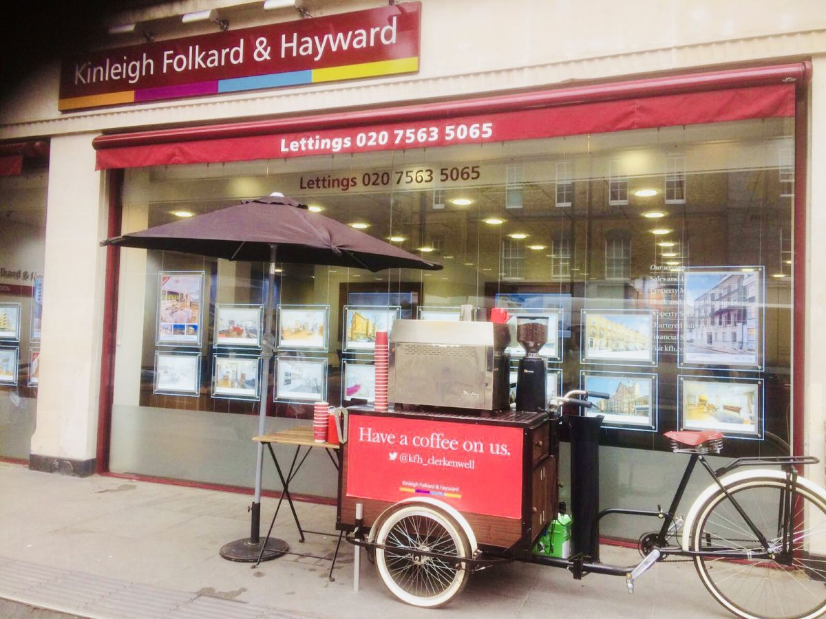 branded Mobile coffee bike for hire