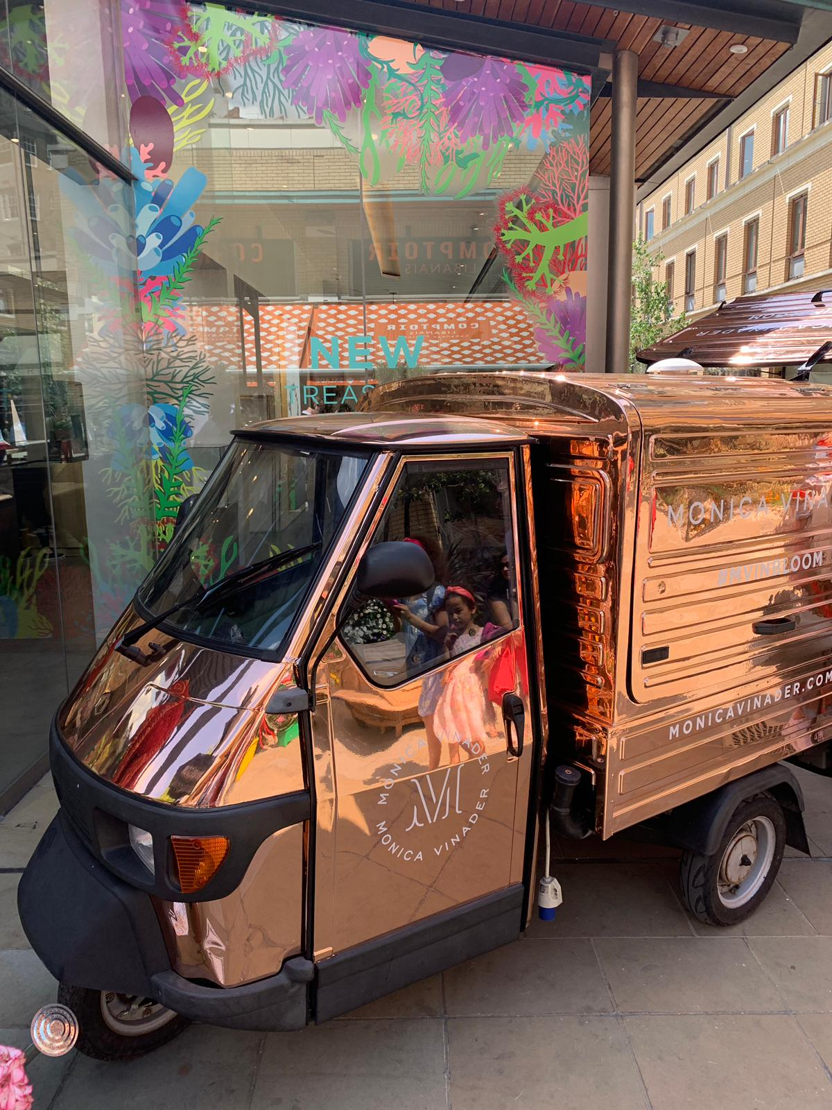 Vinyl wrap branded coffee van for here in London and uk