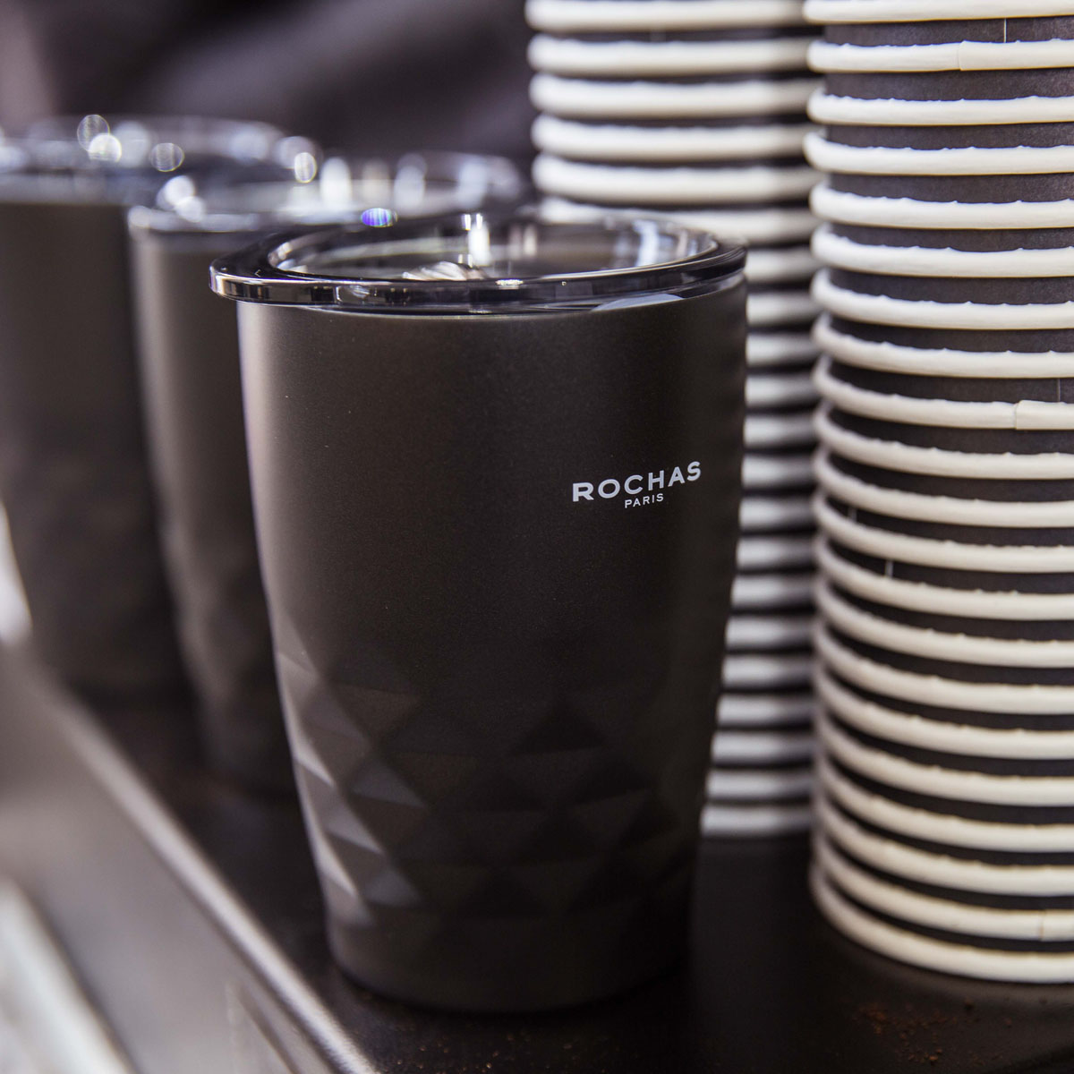 Branded reusable mobile coffee cups