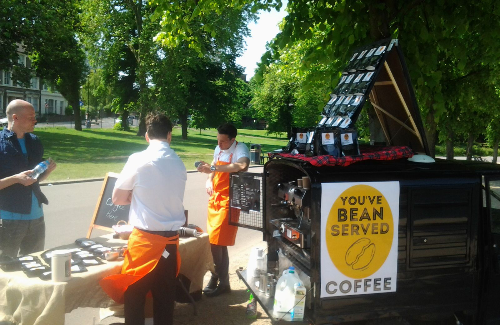 Mobile coffee & craft service hire for TV & film