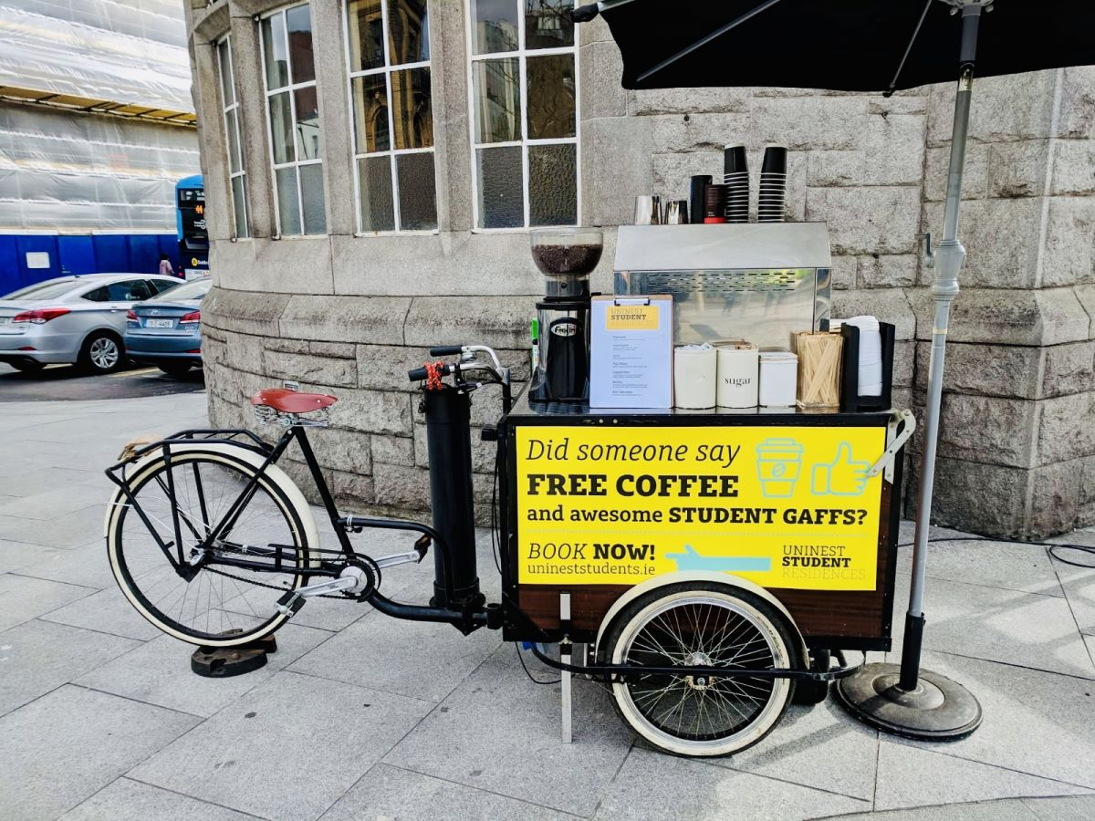 mobile coffee bike and trike hire in London and uk