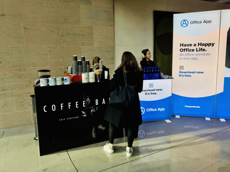Coffee Bar barista hire in London and uk